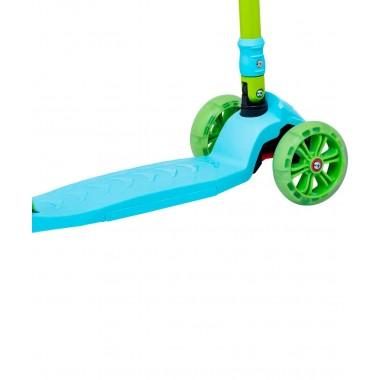 Самокат 3-колесный Ridex Bunny, 135/90 мм, голубой/зеленый