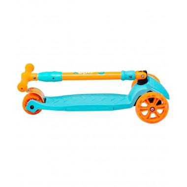 Самокат 3-колесный Ridex Bunny, 135/90 мм, голубой/оранжевый