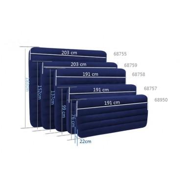Односпальный надувной матрас Intex 68950 Classic Downy (191х76х22см)