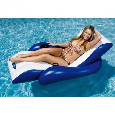 Одноместный пляжный надувной шезлонг Intex 58868