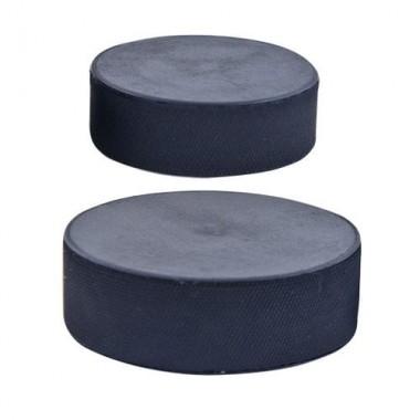 Шайба хоккейная оф.стандарт, диам.75 мм, высота 25 мм, вес 170 гр, черная, пр-во РОССИЯ