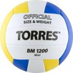 Мяч волейбольный сувенирный Torres BM1200 Mini арт.V30031 р.1