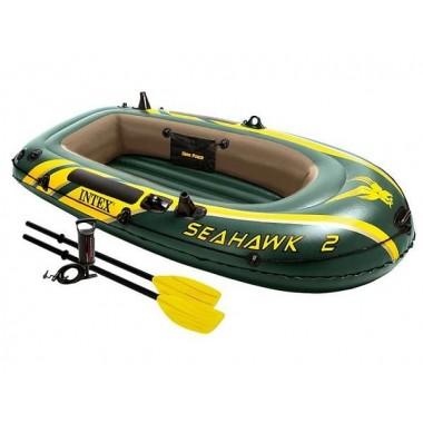 Лодка надувная двухместная Intex Seahawk-200 Set (68347) Сихок