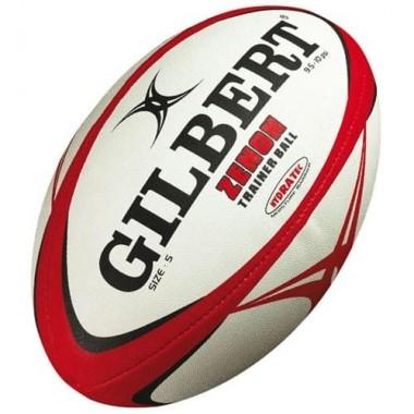 Мяч для регби GILBERT Zenon р.4 белый/черный/красный