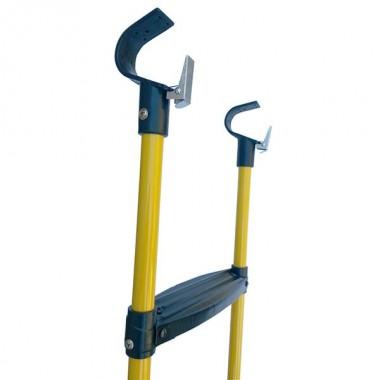 Лестница для батута DFC 12-16 футов (три ступеньки) желтый цвет